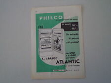 advertising Pubblicità 1958 FRIGORIFERO PHILCO ATLANTIC MOD. 210 LITRI
