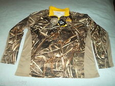 NWT Zip-Up Mens Size 2XL 50-52 REALTREE MAX-5 Camouflage Jacket With Yellow Trim