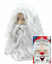 Santa Claus Father Christmas Wig, Beard, Moustache, White Eyebrows Fancy Dress