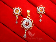 AD501 Daphne Cute Pink Zircon Pendant Set for Women, Gift For Friend