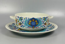 VILLEROY AND BOCH IZMIR CREAM SOUP COUPE / CUP AND SAUCER