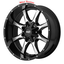 18X9 Black wheels MOTO METAL 970 CHEVY GMC 2500 3500 Truck 1990-2010  8X6.5
