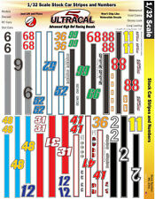 MG3341 1/32 Slot Car Decals UltraCal High Def Stock Car Racing Stripes & Numbers