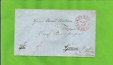Th & T / FRANKFURT 9 MAI 1860 roter K2 m. Zierraute a. Kabinett-Tax.-Brief