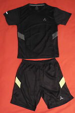 Balance Tech Men's Active Tee & Short Small Black/Black Set of 2 New