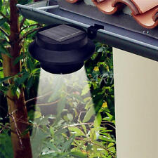 Solar Powered Wall Mount LED Light Outdoor Garden Path Fence Yard Lamp Gutter A