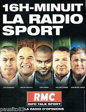 PUBLICITE ADVERTISING 116  2013  Radio RMC  la radio sport Vincent Moscato