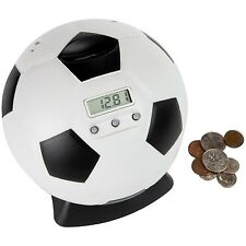 Lily's Home Kid's Money Counting Digital Coin Bank - Soccer Ball