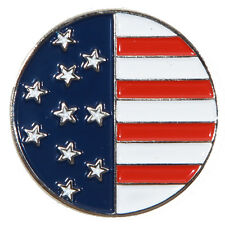 American Flag Metal Golf Ball Marker - Package of 2