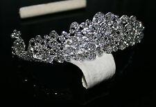 Perle Tiara Haarschmuck Kristall Diadem Hochzeit Braut Prinzessin Krone OK03