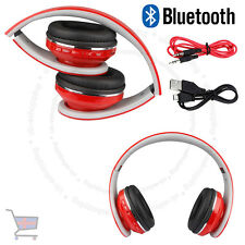 New Foldable Bluetooth Headset Stereo Super Bass Wireless Red  Headphone UKES