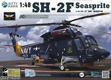 "Hélicoptère US. KAMAN SH-2F ""SEASPRITE"", 1980 - KIT KITTY-HAWK 1/48 - N° 80122"