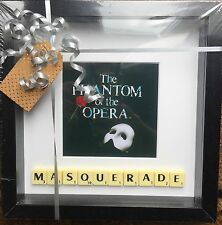 "Phantom Of The Opera ""MASQUERADE"" Scrabble Picture Brand New Can Personalise"