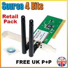300Mbps PC Wireless N WIFI PCI Adapter Card DESKTOP PC 2x  Powerful Antennae
