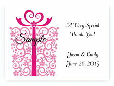100 Personalized Custom Gift Present Wedding Bridal Thank You Cards