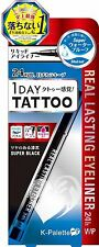 Japanese 1 DAY TATTOO K Palette Japan REAL LASTING EYELINER 24h WP SB001 F/S