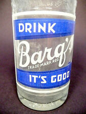 vintage ACL Soda POP  Bottle:  BARQ'S  with embossed bottle - 12  oz ACL