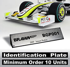 1/18 Brawn GP F1 BGP001 Jenson Button 2009 World Champion - Id. Plate