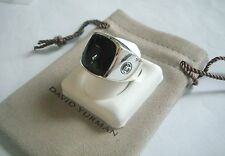 David Yurman Men`s Sterling Silver Black Onyx Signet Ring 10