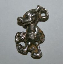 Vintage Antique Sterling Silver Walt Disney Walking Mickey Mouse Charm Pendant