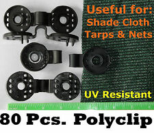 80 POLYCLIPS INSTANT GROMMET SHADE CLOTH PRIVACY SCREEN TARP REPAIR  POULTRY NET