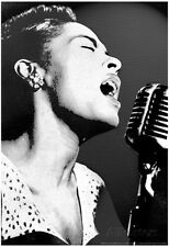 Billie Holiday Black and White Music Poster Print Poster Print, 13x19