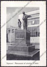 PAVIA VIGEVANO 71 MONUMENTO al CALZOLAIO - SCARPE MESTIERI Cartolina viagg. 1923