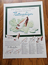 1942 Naturalizer Shoes Ad  Cool as a Cucumber New Summer Spectators