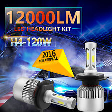 2x 120W 12000LM CREE LED HEADLIGHT BULBS H4 HB2 9003 6000K WHITE HIGH LOW BEAM