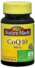 Nature Made CoQ 10 200 mg Naturally Orange 40 Liquid Softgels Exp 12/17 SEALED