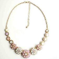 Gold Cat's Eyes Gem Flower Necklace gem flower necklace Collarbone Choker