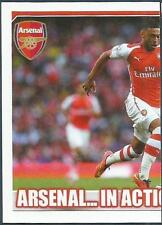 TOPPS 2014/15 PREMIER LEAGUE #007-ARSENAL V CRYSTAL PALACE IN ACTION-LEFT HALF