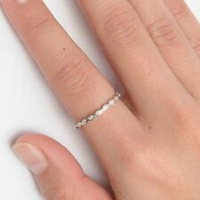 .925 Sterling Silver Ring CZ Infinity Ladies Knuckle Midi Thumb Size 11 New x10