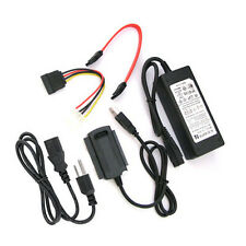 USB 2.0 to SATA IDE with adapter Converter Fit For 2.5 3.5 Hard Drive Black