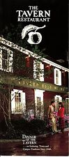 The Tavern Restaurant 220 East College Ave State College PA Vintage Brochure