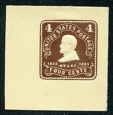 1903 4c CHOCOLATE on AMBER CUT SQUARE MINT U391