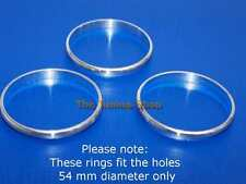 Fits BMW Z3 Chrome Heater A/C Control Surrounds Rings Set Fit 3x 54 mm Diameter
