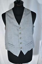 "Vintage pale blue waistcoat size small 38"" dandy indie mod western"