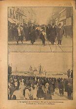 Port de Bordeaux Capitaine de Vaisseaux Orleans  Rochester WWI 1917 ILLUSTRATION