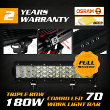 OSRAM 7D 180W 12INCH LED Combo Work Light Bar Offroad Driving For HOLDEN RODEO