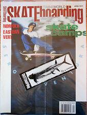 Transworld Skateboarding April 1991 Camps Norfolk Eastern Vert Sergio Ventura