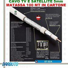 CAVO TV ANTENNA MATASSA 100 M ALTISSIMA QUALITÀ MESSI E PAOLONI ST53/A