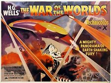 """War of the Worlds 1953 16"""" x 12"""" Reproduction Movie Poster Photograph"""