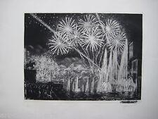 ARTISTE ? GRAVURE 1937 SIGNÉ AU CRAYON NUM/100 HANDSIGNED ETCHING ART DÉCO PARIS