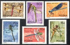 Poland 1988 Dragonflies/Dragonfly/Insects/Nature 6v set (b6857)