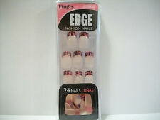 Fing'rs Edge Fashion Nails #22606 Pink French Tips with Black Crackle