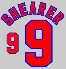 World Cup 1998 Shearer 9 England Home Football Name set for National shirt
