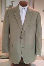 Brooks Brothers Mens 3 Btn Beige Wool Silk Linen Blazer Jacket Size 48 R MINT!