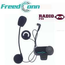 Motorbike Motorcycle Helmet Bluetooth Intercom 800M BT Interphone Headset+FM New