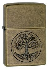 Zippo Classic Tree of Life Antique Brass 29149 Windproof Flint Lighter